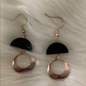NWOT Gold & Black Earrings